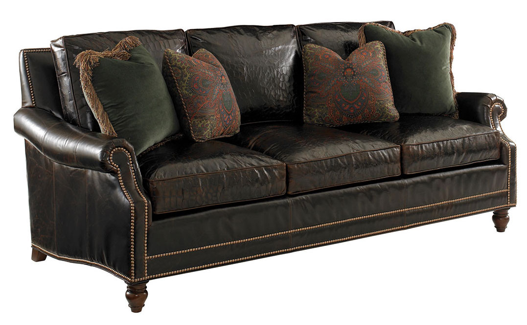 SHOAL CREEK LEATHER SOFA