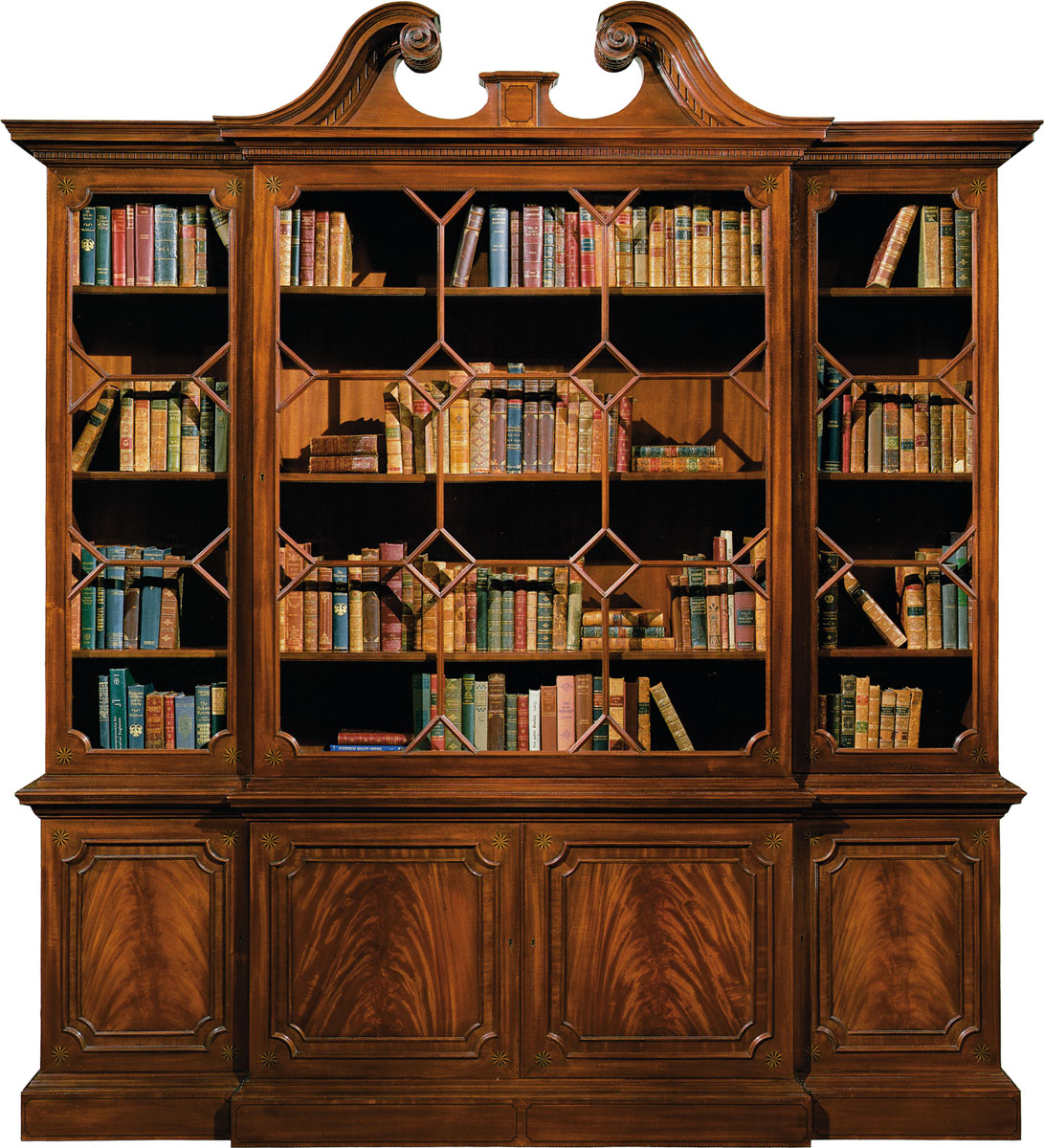 CHIPPENDALE MAHOGANY BOOKCASE