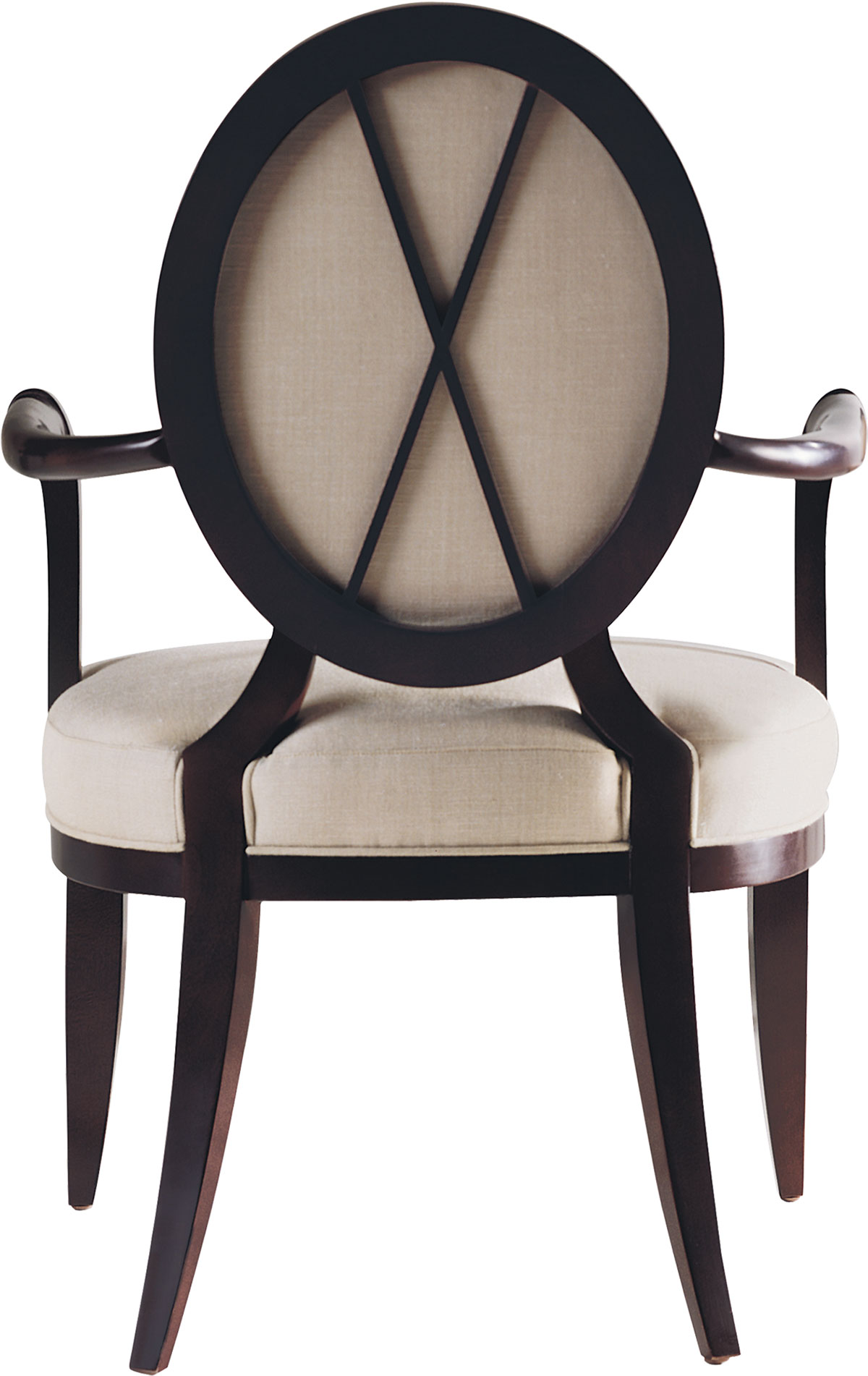 OVAL X-BACK DINING SIDE CHAIR & ARMCHAIR