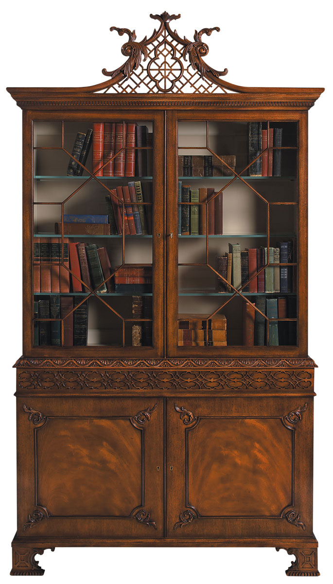 PENSHURST CHIPPENDALE DISPLAY CABINET