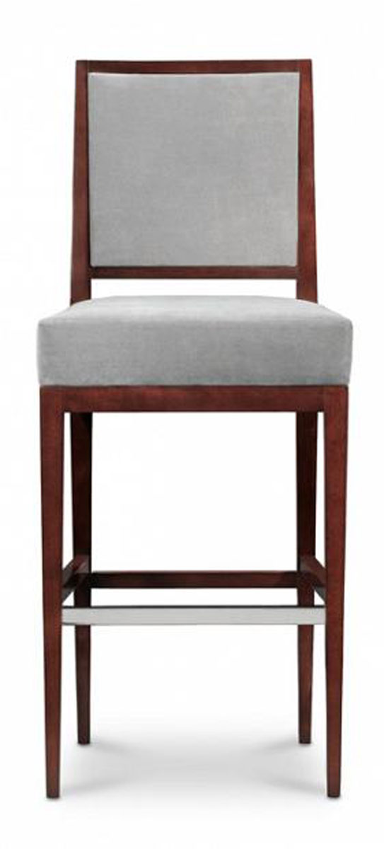Rosenau Upholstered Back Bar Stool