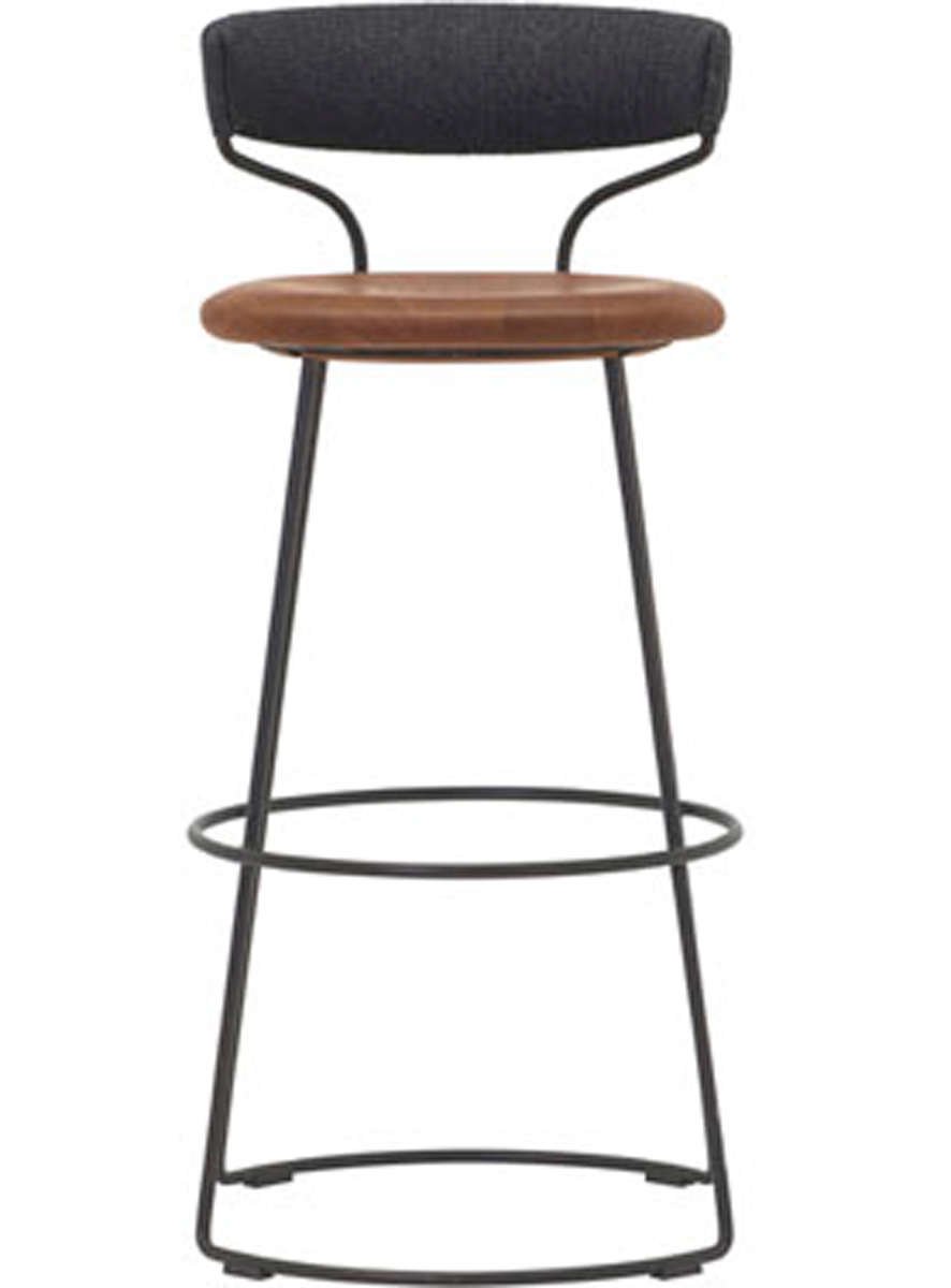DANISH CORD SWIVEL COUNTER STOOL