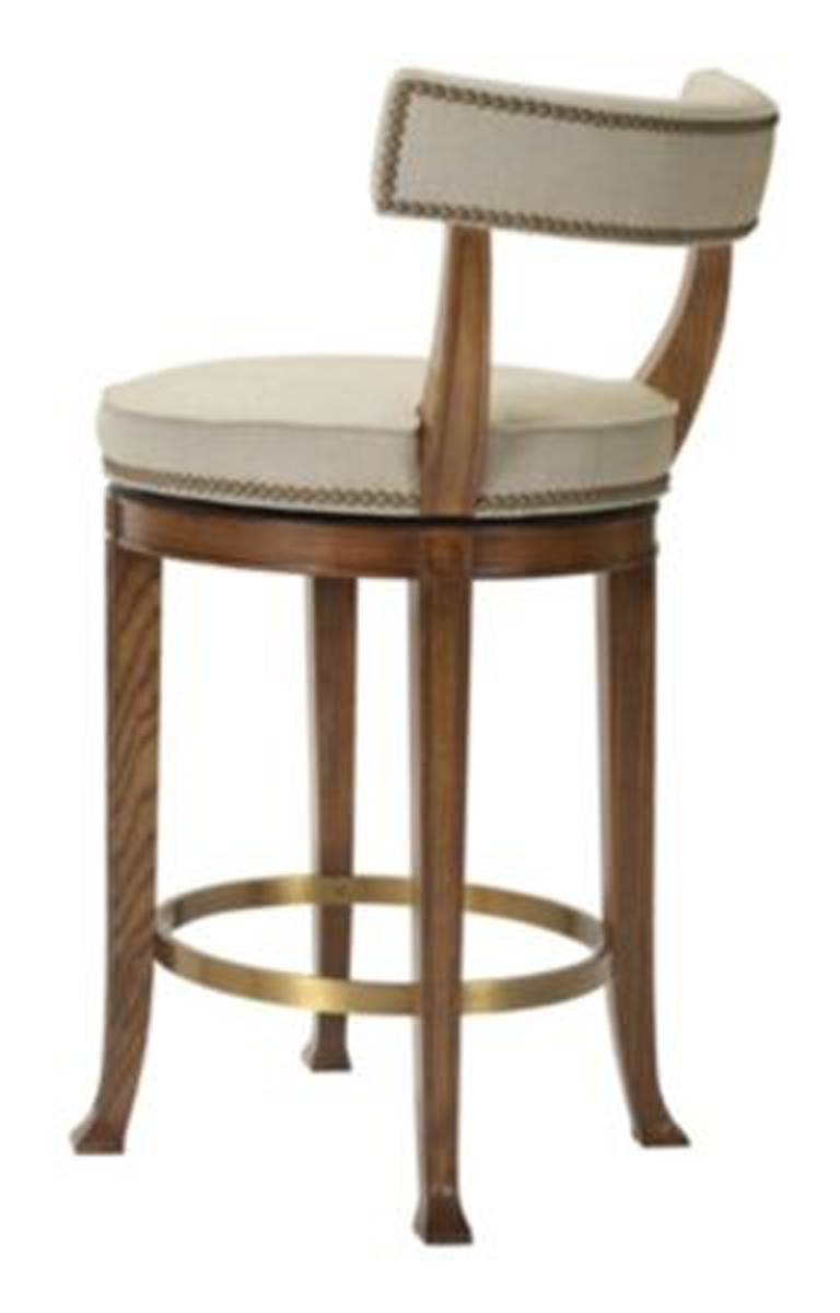 Newbury Swivel Curved Back Bar Stool