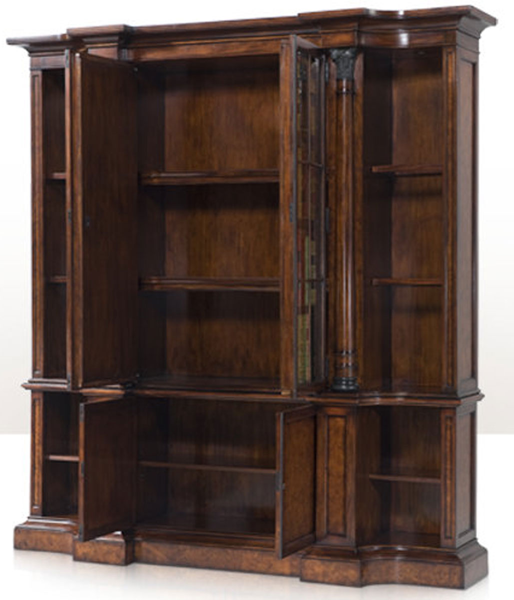 A faux book and laurel burl bookcase