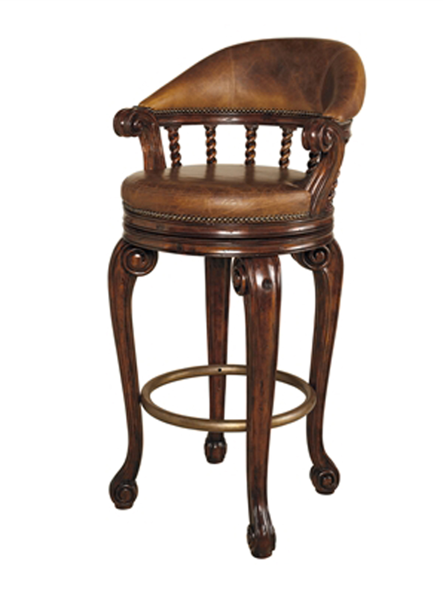 Dark Antique Lido Finished Mahogany Swivel Counter Stool