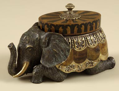 Cast Brass Elephant Box