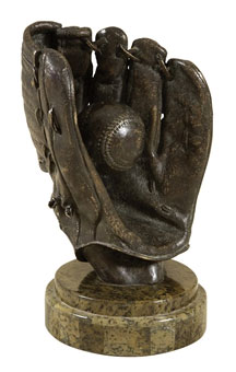 Verdıgrıs Brass Patına Baseball Glove wıth Ball