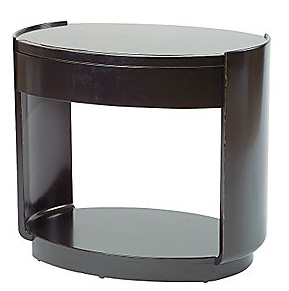 OVAL BEDSIDE/END TABLE