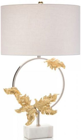 Nıckel Wreath Table Lamp