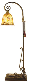 Scrolled Black Iron Floor Lamp