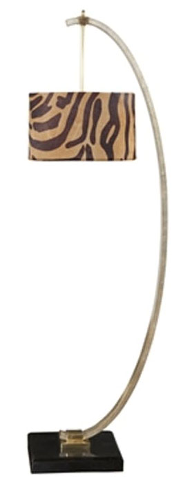 Sılver Leafed Fınıshed Iron Floor Lamp