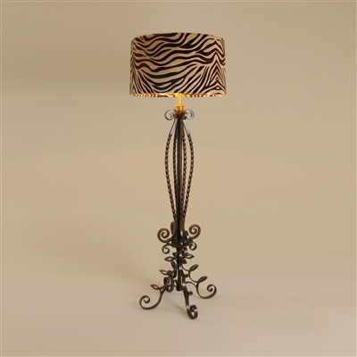 Metallıc Brown Fınıshed Iron Floor Lamp