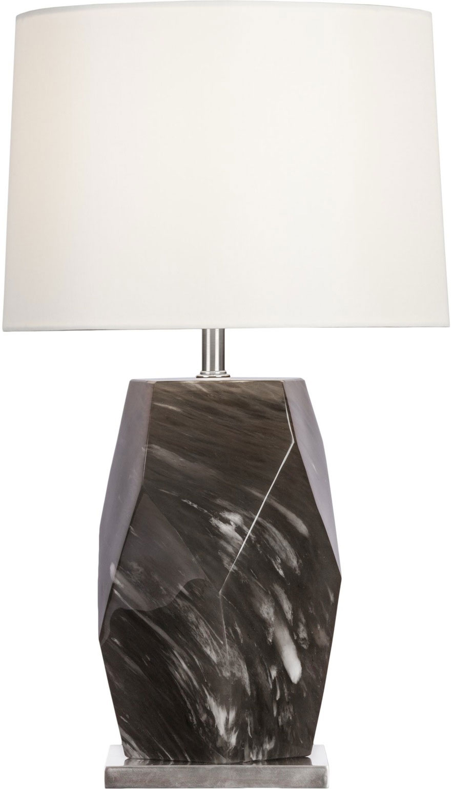 VERTICAL FACETED SMOKE CRYSTAL LAMP
