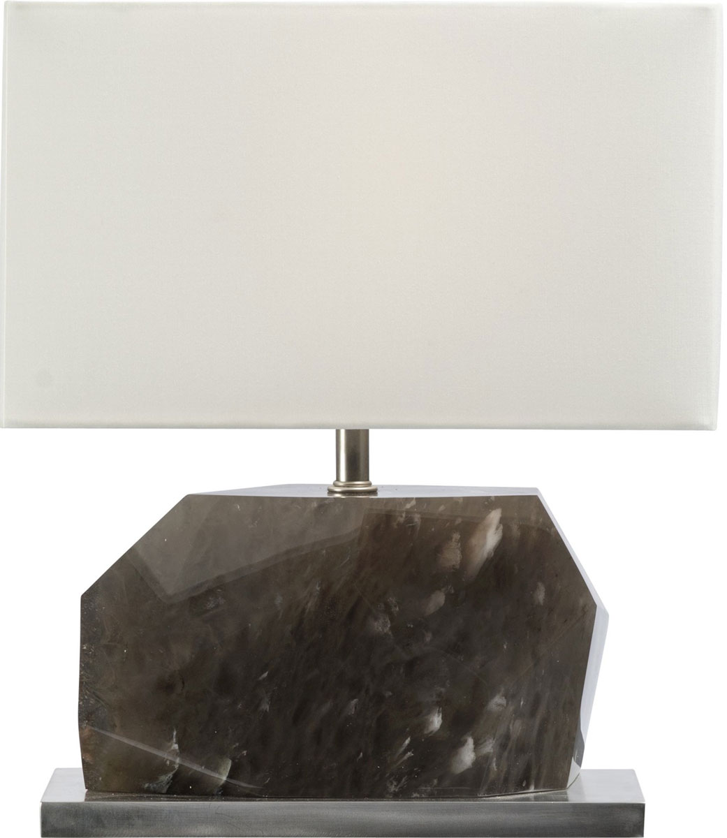 HORIZONTAL FACETED SMOKED CRYSTAL LAMP