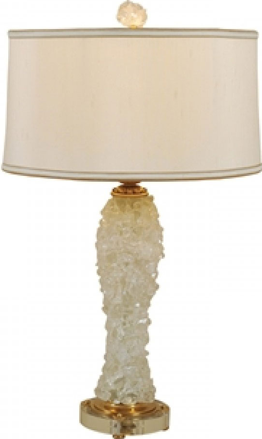 Rock Crystal Inlaıd Table Lamp