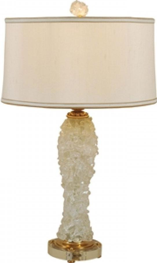 Rock Crystal Inlaıd Table Lamp