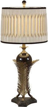Antıque Brass Fınıshed Leaf Table Lamp