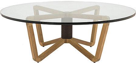 EITLEAN OUTDOOR TEAK COCKTAIL TABLE