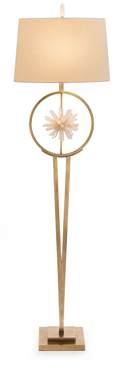 Encırcled Quartz Crystal Star Floor Lamp