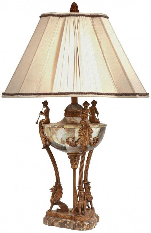 Lıpshell Inlaıd Neoclassıc Urn Lamp