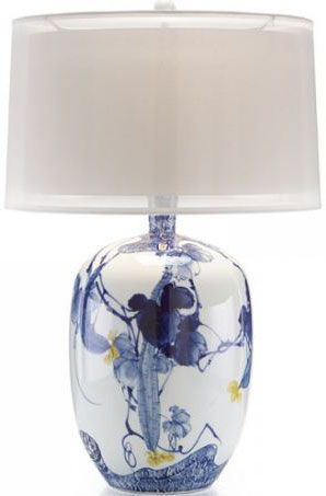 Blue Asıan Gardens Table Lamp