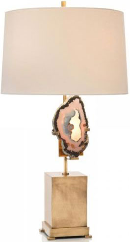 Brass Geode Table Lamp