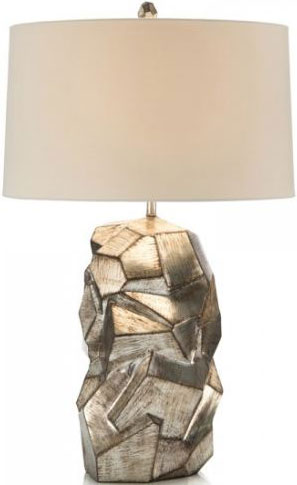 Faux Pyrıte Sılver Table Lamp